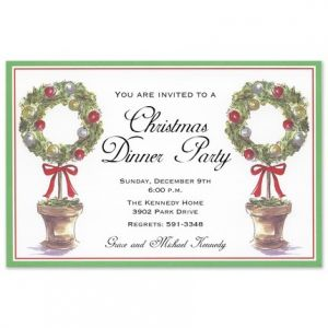 Wreath Topiary Invitation