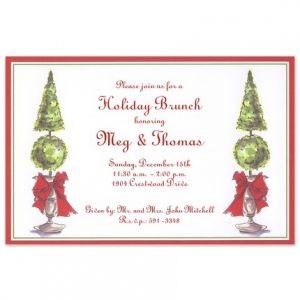 Topiary Elegance Invitation