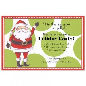 Jolly Santa Invitation