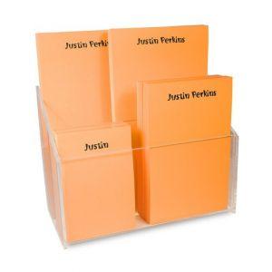 Orange Note Pads & Caddy