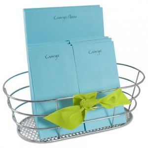 Blue Note Pads & Wire Basket