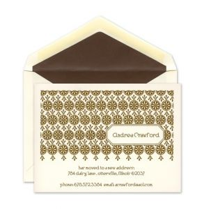 Floral Address Flat Card