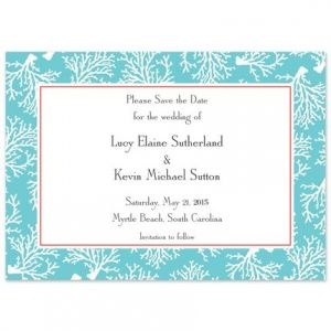 Teal Coral Invitation
