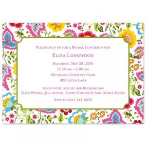 Bright Floral Invitation