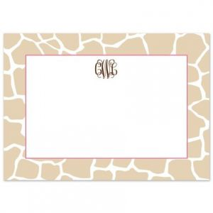 Tan Giraffe Flat Card