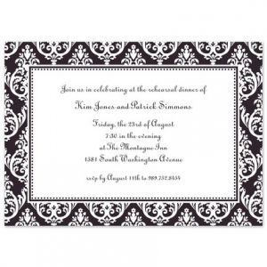 Madison Black Invitation