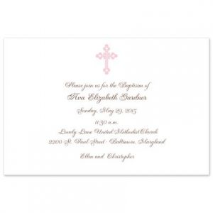 Pink Cross Invitation