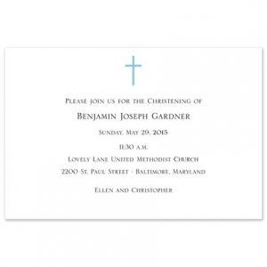Blue Cross Invitation