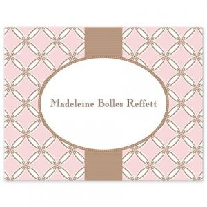Quilted Pink Note Card