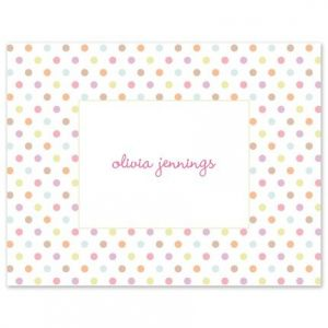 Pink Confetti Note Card