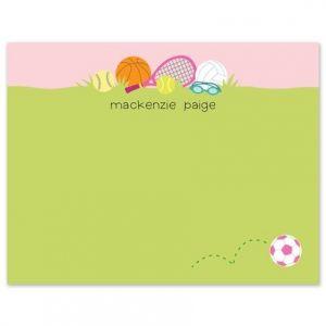Sports Girl Flat Card