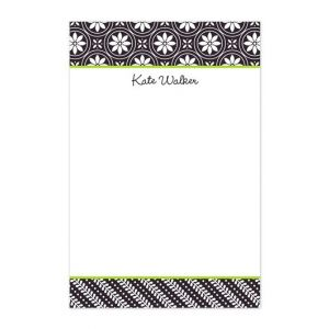 Medallion Black Note Pad