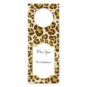 Leopard Brown Wine Tag