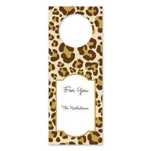 Leopard Brown Wine Tag