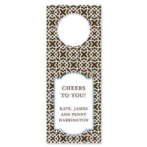 Mod Lattice Brown Wine Tag