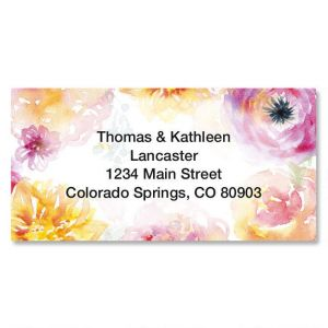 Pretty Posy Border Address Labels