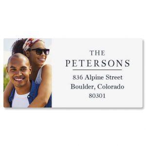 Classic Custom Photo Border Address Labels