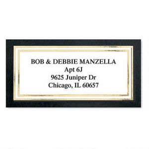 Black & Gold Foil Border Custom Address Labels