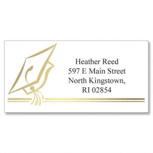 Hats Off Foil Border Address Labels