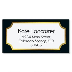 Fundamental Black Foil Border Address Labels