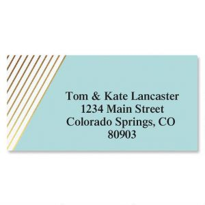 Contempo Foil Border Address Labels