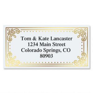 Delicate Antique Foil Border Address Labels