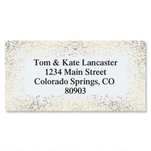 Gold Speckles Foil Border Address Labels