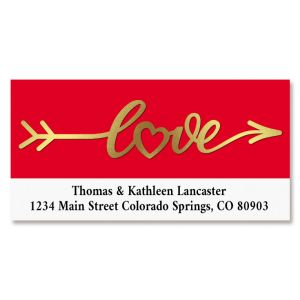 Lovely Foil Border Custom Address Labels