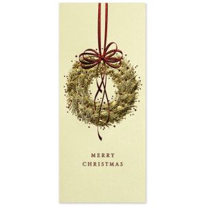 Golden Wreath Greeting Card