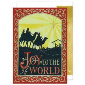 Joyous Wisemen Greeting Card