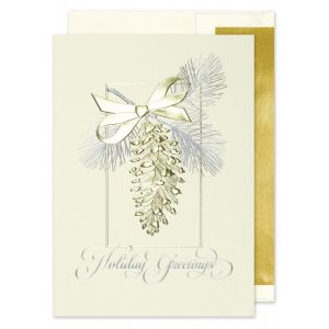 Golden Pinecone Greeting Card