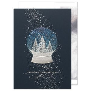 Snow Globe Sparkles Greeting Card