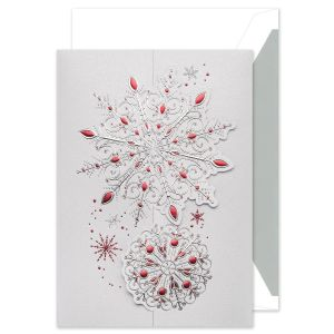Lavish Snowflakes Greeting Card