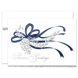 Pine Cone in Silver Greeting Card