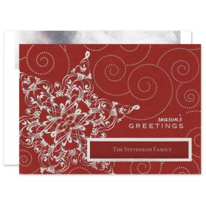 Silver Snowflake Sensation Greeting Card