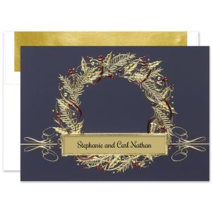 Seasonal Elegance Greeting Card