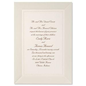 Silver Marble Invitation