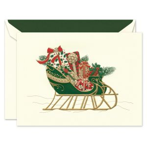 Festive Sleigh Greeting Card