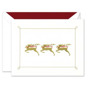 Prancing Deer Greeting Card