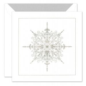 Sparkling Snowflake Greeting Card