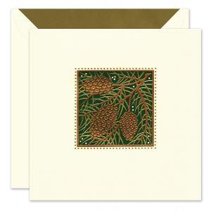 Holiday Pinecones Greeting Card