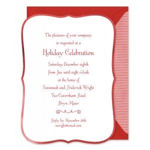 Ornate Red Border Invitation