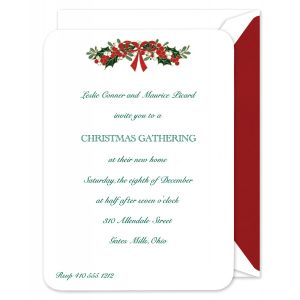 Mistletoe Swag Invitation