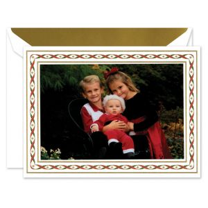 Woven Ribbons Photo Card