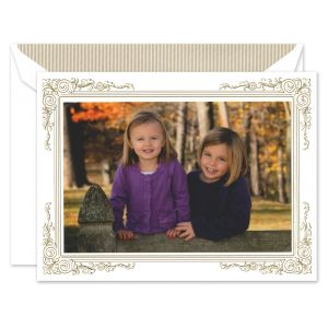 Gold Frame Photo Card