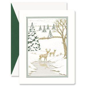 Skiing Santa Greeting Card
