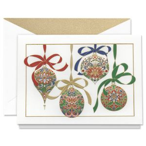 Engraved Elegant Ornaments Holiday Greeting Cards Boxed Set