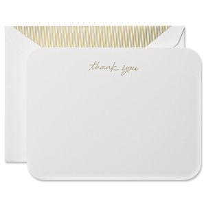 Round Corner Thank You Cards Boxed Set