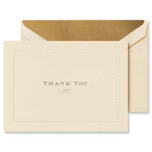 Beaded Border Thank You Notes Boxed Set