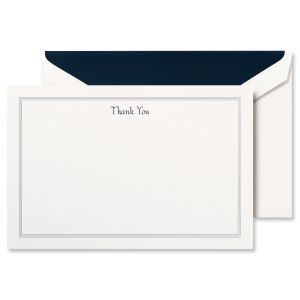 Navy Triple Hairline Frame Thank You Notes Boxed Set